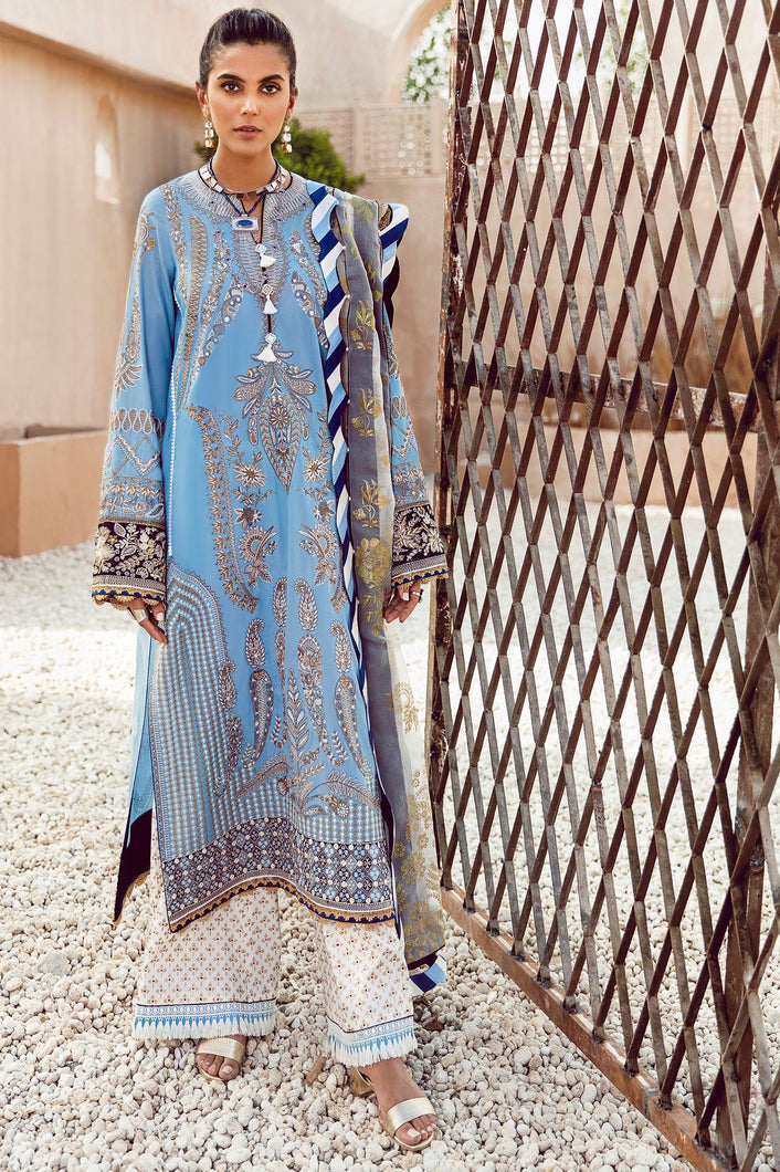 ELAN FESTIVE 2020 - EF-04 AZZURA online Pakistani designer dress Anarkali Suits Party Werar Indian Dresses Pakistani Dresses elan luxury lawn 2020 elan luxury elan luxury lawn 2019 elan luxury lawn collection 2020 elan luxury eid collection elan luxury wedding collection