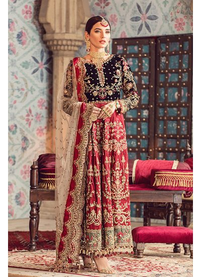 Gulaal Wedding Collection Red - LebaasOnline