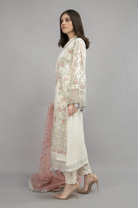 Suit Off White SF-EA20-10 | Maria B Evening Wear | Maria B Winter Wear
