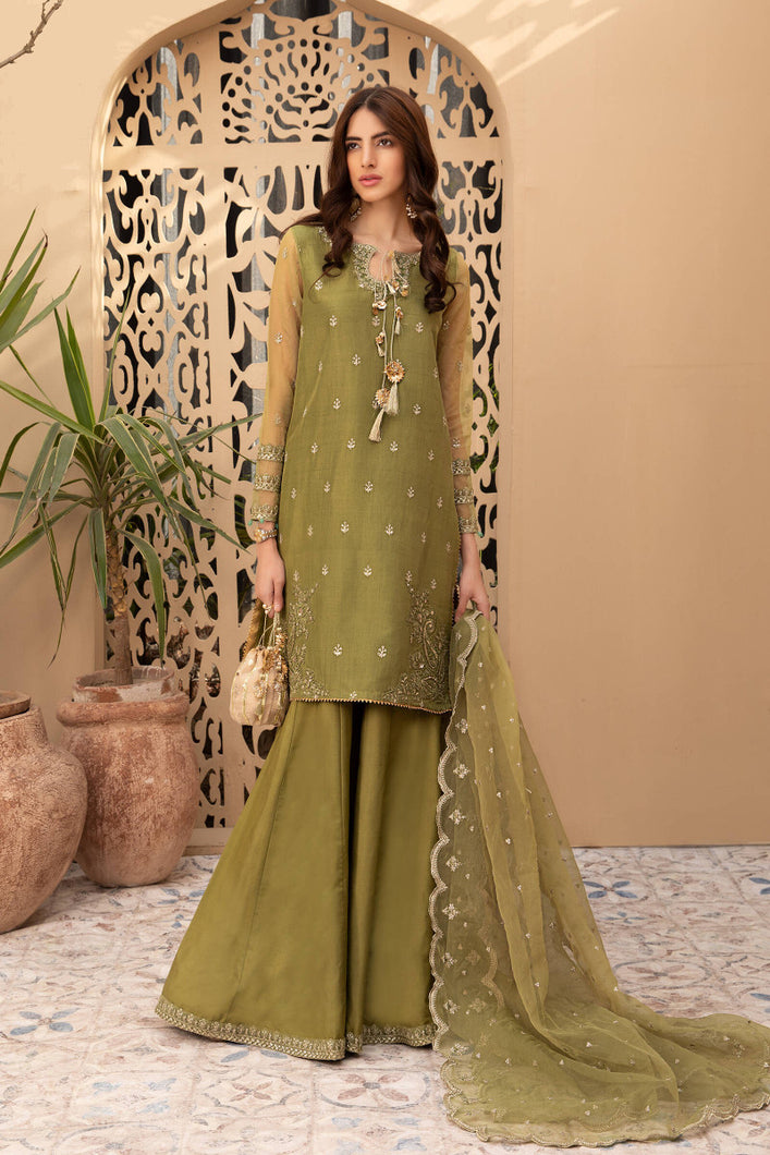 Buy Maria B Suit Green SF-EF21-07 Ready to Wear and Stitched. READY MADE MARIA B EID COLLECTION 2021 Rejoice this Eid ambiance with balance of dynamic hues with NEW Pakistani designer clothes 2021 from the top fashion designer such as MARIA. B. online in UK & USA Express shipping to London Manchester & worldwide
