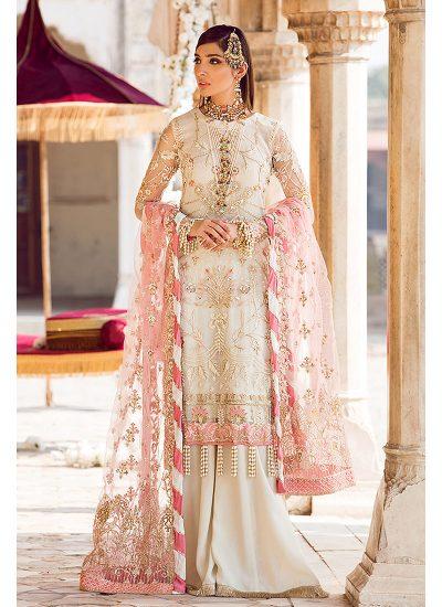 Gulaal Wedding Collection White - LebaasOnline
