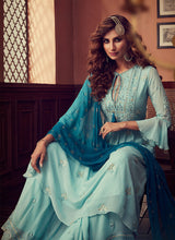 Load image into Gallery viewer, Designer Sharara Suit 2020 - Sky Blue by ZOYA Traditions