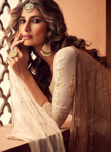 Load image into Gallery viewer, Designer Sharara Suit 2020 - Cream and Gold by ZOYA Traditions