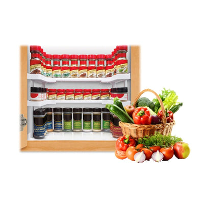 RackX™ 2 Layers Kitchen Cabinet Cupboard Organiser Adjustable
