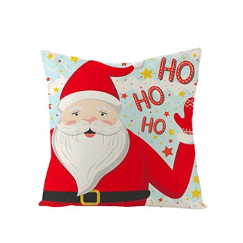 Christmas Winter Snowflake Embroidered Cotton Linen Decorative Pillowcase Cushion Cover for Sofa Throw Pillow Case