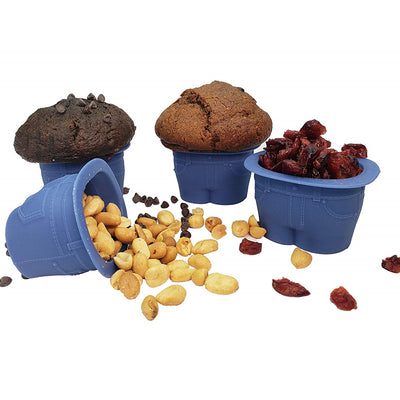 Adorable Muffin Tops Denim-Style Baking Cups, Set of 4