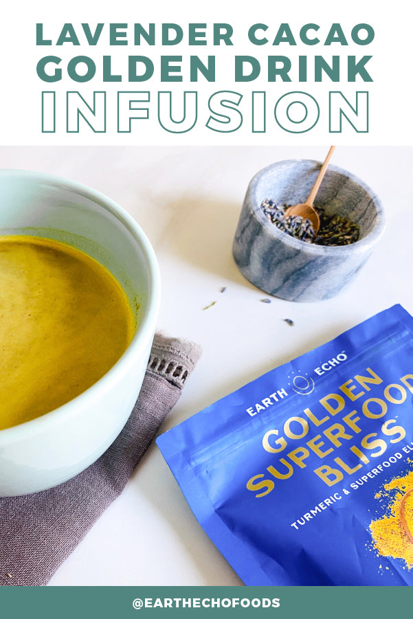 Lavender Cacao Golden Drink Infusion Image
