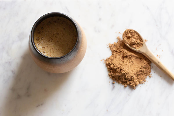 mug with cacao bliss - cacao benefits article