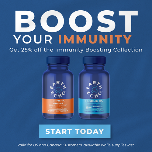 Boost Your Immunity with Earth Echo Turmeric + Ginger & Probiotics