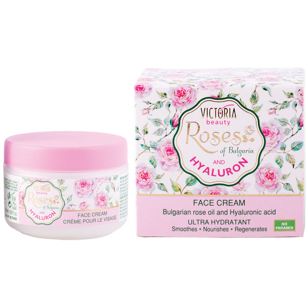 Face Cream with Bulgarian Rose Oil and Hyaluronic Acid