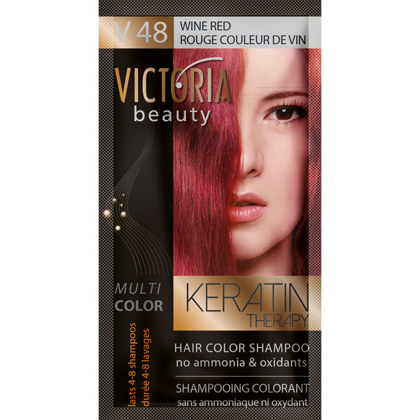 Hair Color Shampoo - V48 Wine Red