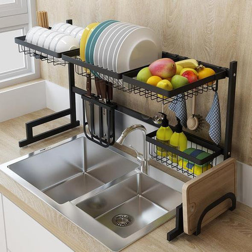 Stainless steel paint kitchen drainage rack