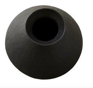 Aurora Black Textured Vase