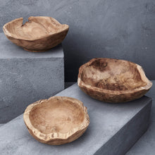 Load image into Gallery viewer, Hand Carved Tree Root Serving Bowl