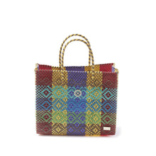 Load image into Gallery viewer, Small Yellow Patterned Tote Bag