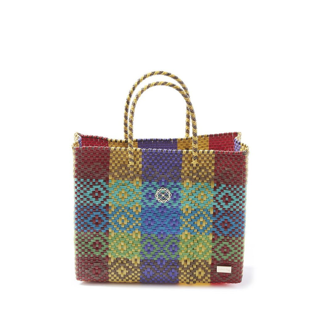 Small Yellow Patterned Tote Bag