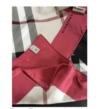 Load image into Gallery viewer, Burberry Silk scarf - RAG REVOLUTION