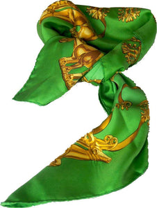 Hermès scarf titled Les Cavaliers D'Or, by Vladimir Rybaltchenko - RAG REVOLUTION