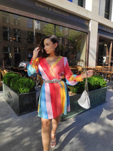 Load image into Gallery viewer, Olivia Rubin Kylie Classic Rainbow Sequin Mini Dress - RAG REVOLUTION