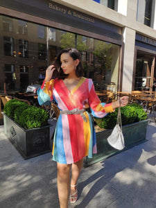 Olivia Rubin Kylie Classic Rainbow Sequin Mini Dress - RAG REVOLUTION