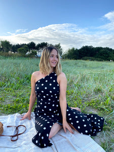Upcycled Reformation Lawrence Polka Dot Dress - RAG REVOLUTION