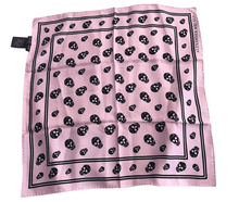 Load image into Gallery viewer, Alexander McQueen signature skull print scarf pink - RAG REVOLUTION