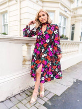 Load image into Gallery viewer, KITRI Alicia Floral Print Shirt Dress - RAG REVOLUTION