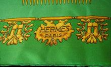 Load image into Gallery viewer, Hermès scarf titled Les Cavaliers D'Or, by Vladimir Rybaltchenko - RAG REVOLUTION