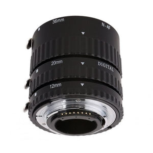 Meike MK-N-AF-A Metal Auto Focus AF Macro Extension Tube Set for Nikon