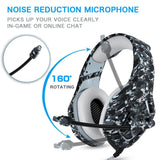 ONIKUMA K1-B 3.5mm Stereo Gaming Headset Camo Grey