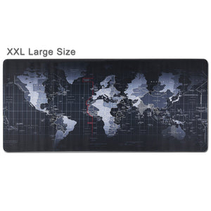 World Map XXL Mouse Pad - Portable Large Desk Pad