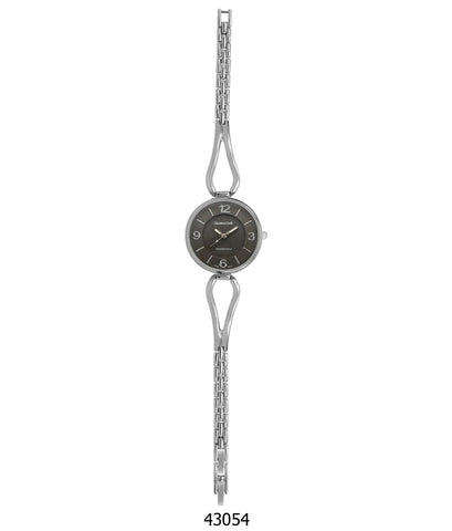Montres Carlo IP Silver Bracelet Watch with IP Silver Case