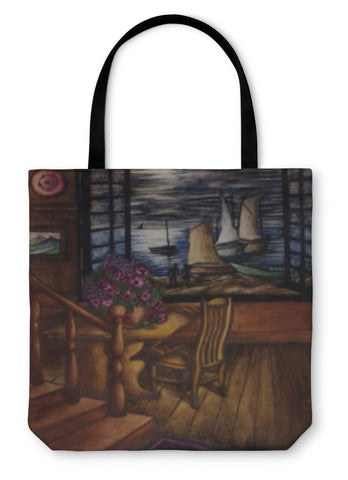 Tote Bag, View Of The Moon And The Sea