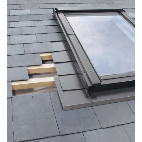 FAKRO ELV Slate Flashing For Natural Non-Interlocking Slate - All Sizes Roof Window Flashings