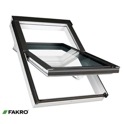 FAKRO PTP-V P2 White PVC Ctr Pivot Window - All Sizes Fakro Roof Windows