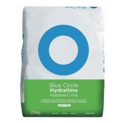 Blue Circle Hydralime - Hydrated Lime 25 Kg Bag Building Materials