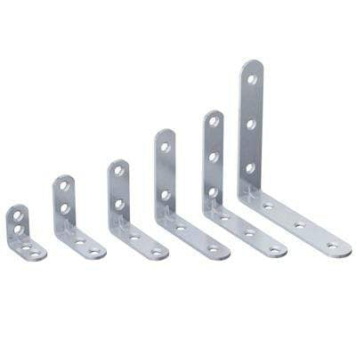 Zinc Plated Light Duty Corner Brackets (Pack of 10) - All Sizes Building Materials