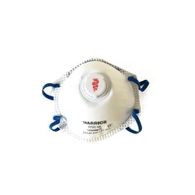 white and blue color dust mask