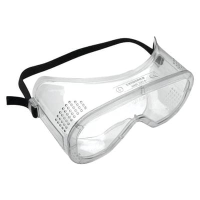 Safety glasses with black strap