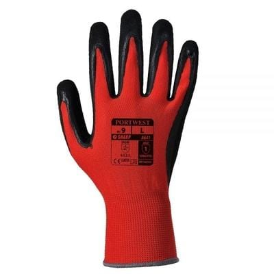 Image of Portwest Red PU Coated Gloves A641 Tools & Workwear