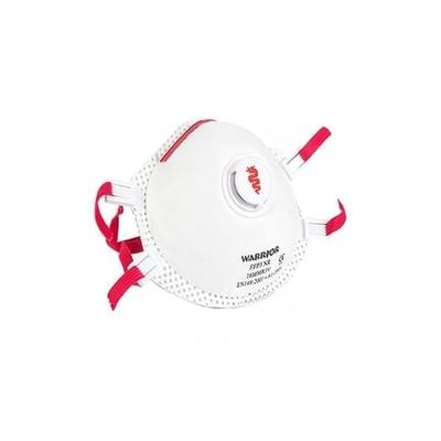Dust mask white and red color