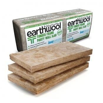 Knauf Earthwool Timber Frame Party Wall Slab 600mm x 1200mm - All Sizes Loft Insulation