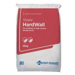 British Gypsum Thistle Hardwall Plaster 25Kg Bag Plastering Accessories