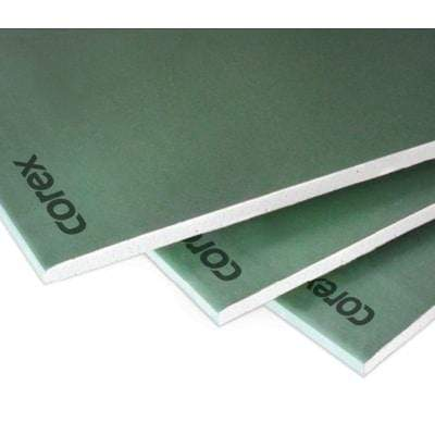 COREX Moisture Plasterboard TE 2.4m x 1.2m x 12.5mm (Pallet Of 72 Sheets) 12.5mm (72 Sheets) Insulation Board