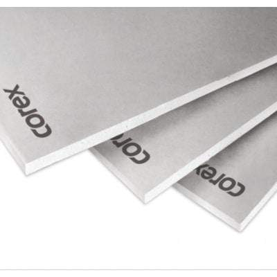 COREX White Plasterboard TE (All sizes) 2.4m x 1.2m Insulation Board
