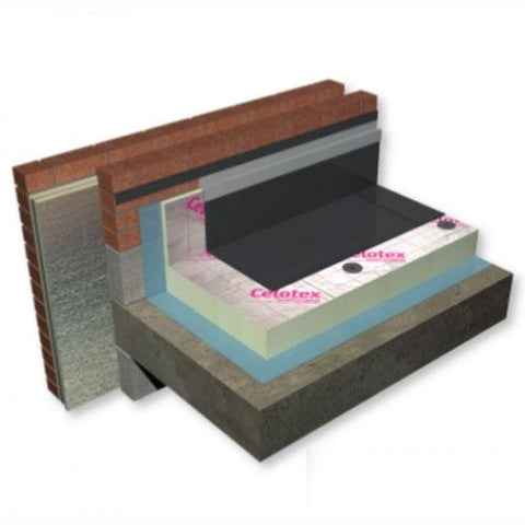 Celotex Crown-Fix Flat Roof PIR Insulation 2.7m x 25m - All Sizes All Insulation