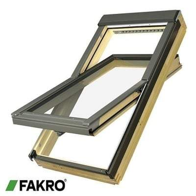 FAKRO FTP-V P2 Z-Wave Natural Pine Ctr Pivot Window - All Sizes Fakro Roof Windows
