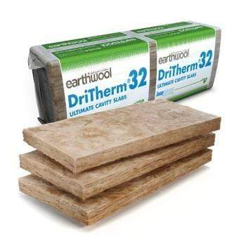 Knauf Earthwool Dritherm 32 (455mm x 1200mm) - All Sizes Cavity wall Insulation