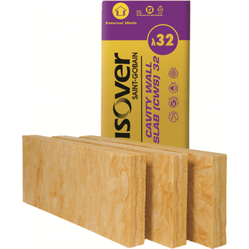 Isover Batt - CWS 32 (1.2m x 0.45m) All Sizes Cavity wall Insulation