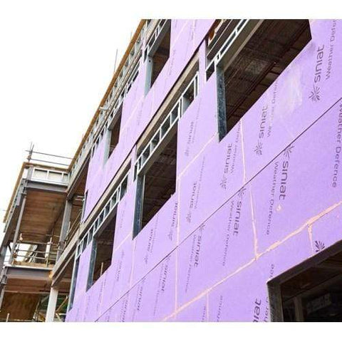 Siniat Weather Defence Board applied to building